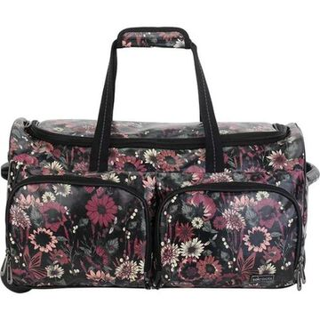 Sakroots Women's Artist Circle Rolling Duffle Graphite In Bloom - US Women's One Size (Size None)