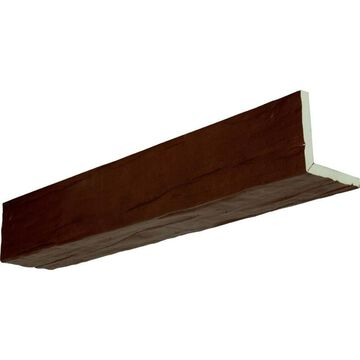 Ekena Millwork Riverwood Endurathane Faux Wood 4-in x 12-in x 168-in Natural Pecan Prefinished Polyurethane Decorative Beam in Brown