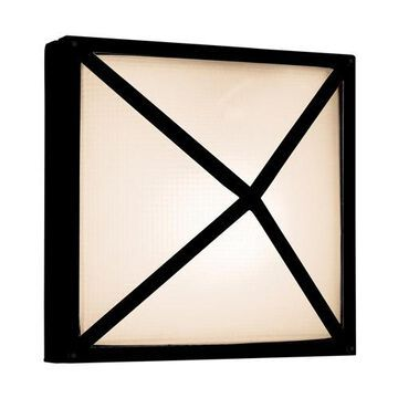 20330MG-BL-FST Oden 2 Light Black Outdoor Wall in Incandescent