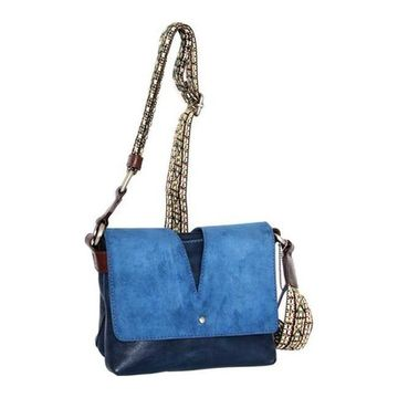 Nino Bossi Women's Sumana Rocks Crossbody Bag Blue - US Women's One Size (Size None)