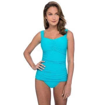 Profile by Gottex Ribbons Underwire Tankini Top (Du002FE Cup)