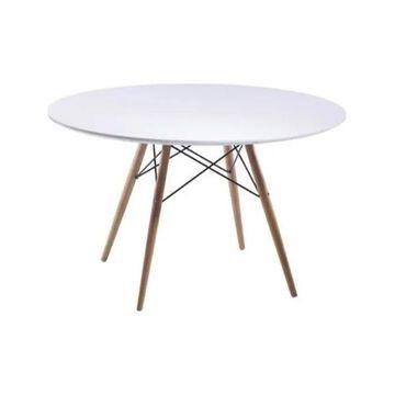 Fine Mod Imports Wood Leg Dining Table, 48