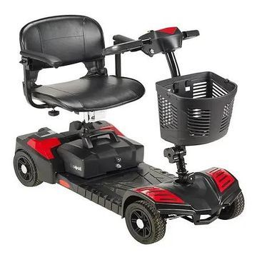Drive Medical Spitfire Scout 4 Wheel Travel Power Scooter 16.5 Inch Seat Red