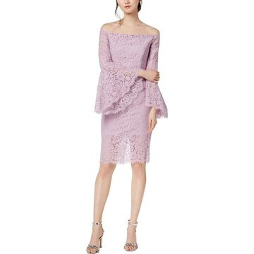 Bardot Womens Cocktail Dress Lace Above Knee