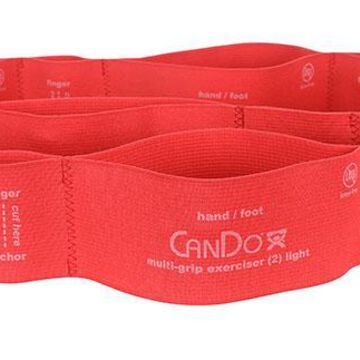 CanDo Multi-Grip Exerciser, light, red, case of 24