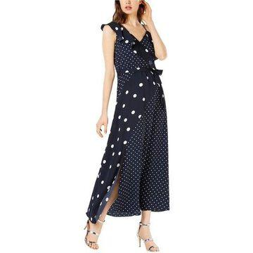 bar III Womens Dot A-line Maxi Dress