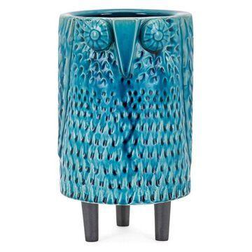 IMAX Home 64354 Owl 10 Inch Tall Ceramic Vase