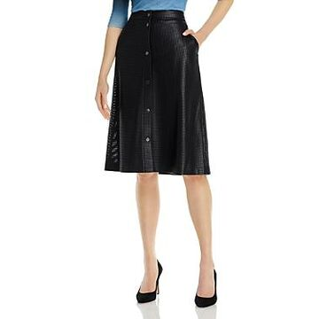 Boss Vefy Faux Leather A-Line Skirt