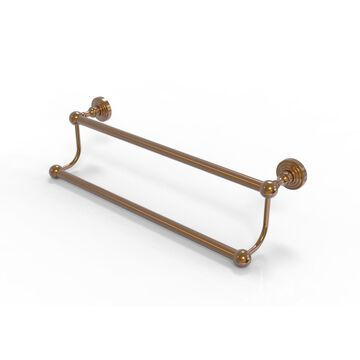 Allied Brass Waverly Place 30-in Double Brushed Bronze Wall Mount Double Towel Bar | WP-72/30-BBR