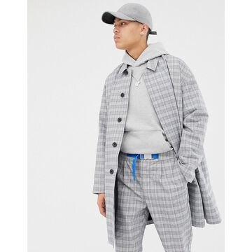 ASOS WHITE two-piece trench coat in check