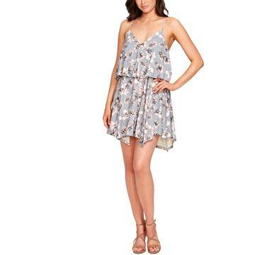 William Rast Womens Elizabeth Mini Dress Daytime Floral Print