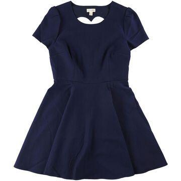 Maison Jules Womens Heart Cutout Fit & Flare Dress
