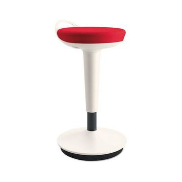 Alera ActivErgo Balance Perch Stool, Red With White Base