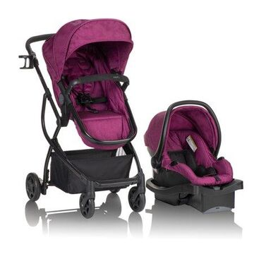 Evenflo Urbini Omni Plus Travel System stroller, Raspberry Pink