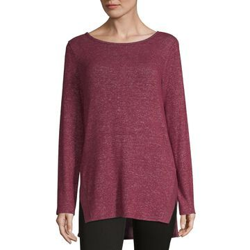 Alyx Womens Round Neck Long Sleeve Tunic Top
