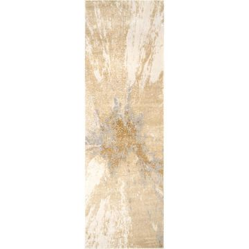 nuLOOM 2 x 10 Gold Indoor Abstract Area Rug Polyester   CFDR02A-26010