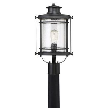 Quoizel Booker Outdoor Post Lantern in Black