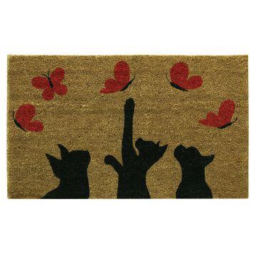Bacova Guild Playful Butterflies Printed Rectangular Outdoor Doormat
