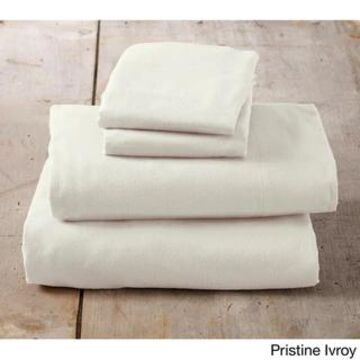 Home Fashion Designs Nordic Collection Extra Soft 100 Cotton Flannel Deep Pocket Bed Sheet Set (Pristine Ivory - King)