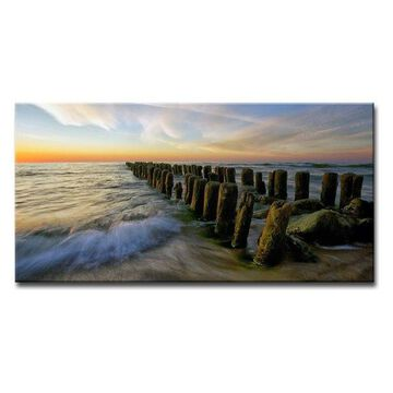 Ready2HangArt 'Baltic' Wrapped Canvas Wall Decor, 60