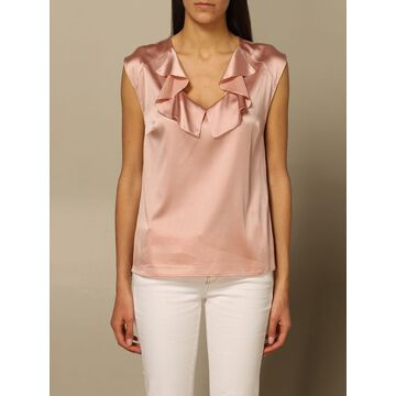 Pinko V-neck Top With Ruffles