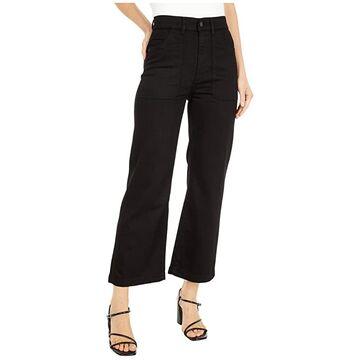 DL1961 Hepburn Wide Leg High-Rise Vintage in Blackwell (Blackwell) Women's Jeans