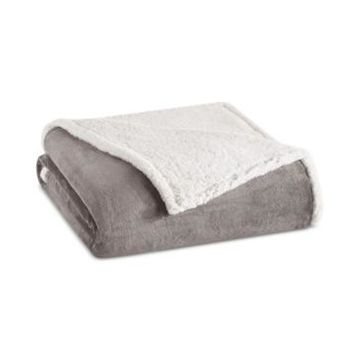 Madison Park Microlight Plush to Berber Twin Blanket Bedding
