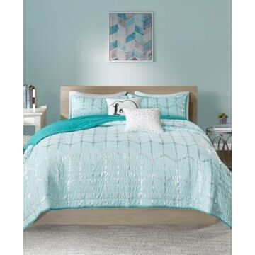 Intelligent Design Raina Reversible 4-Pc. Quilted Twin/Twin Xl Coverlet Set Bedding
