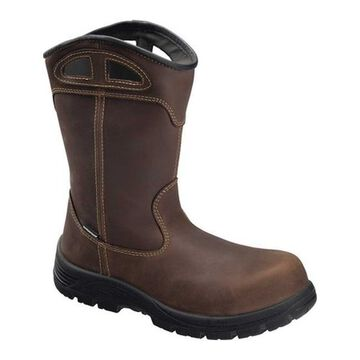 Avenger Men's A7856 Framer Wellington Composite Toe WP Work Boot Brown Full Grain Leather