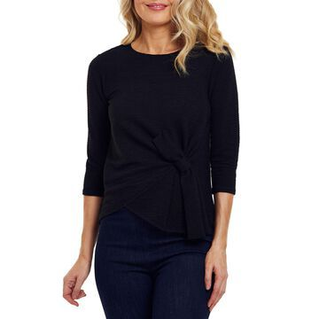 Bow-Front 1/2-Sleeve Ottoman Top