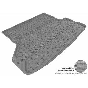 3D MAXpider 2008-2013 Toyota Highlander All Weather Cargo Liner in Gray with Carbon Fiber Look