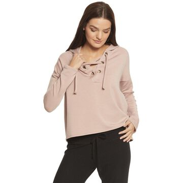 Beyond Yoga Over Tied Cropped Pullover