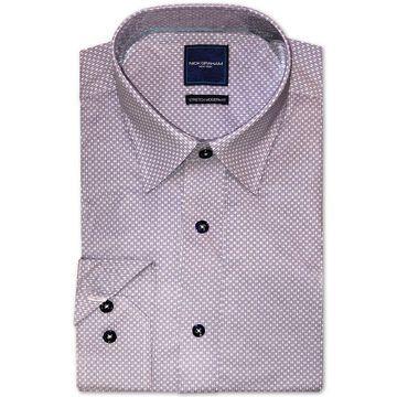 Men's Modern-Fit Stretch Geo-Print Dress Shirt