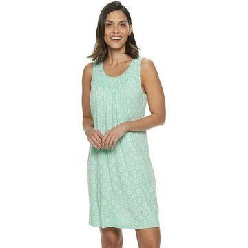 Women's Croft & Barrow Smocked Nightgown