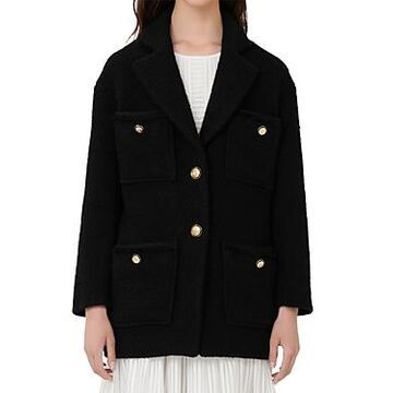 Maje Guiliana Tweed Coat