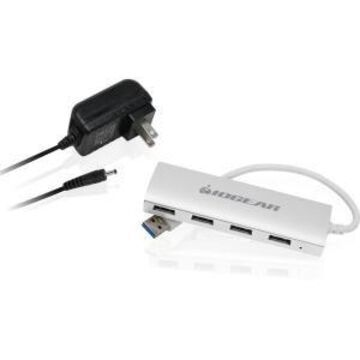 4PORT USB 3.0 ALUMINUM HUB USB BUS POWERED W/PWR SUPPLY