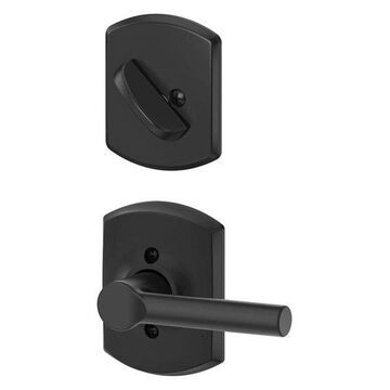 Schlage F59-BRW-GRW Greenwich Broadway Single Cylinder Interior Pack Matte Black