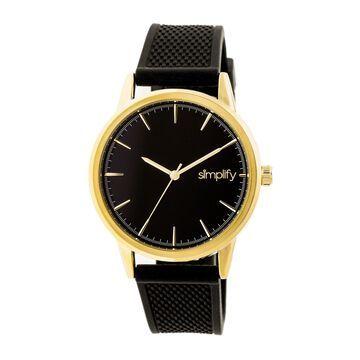 Simplify The 5200 Unisex Quartz Watch, Silicone Strap