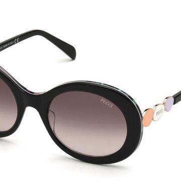 Emilio Pucci EP0127 01T Womenas Sunglasses Black Size 55