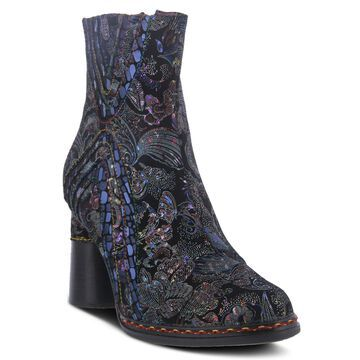 L'Artiste by Spring Step Metallic Leather Booties - Sopretti