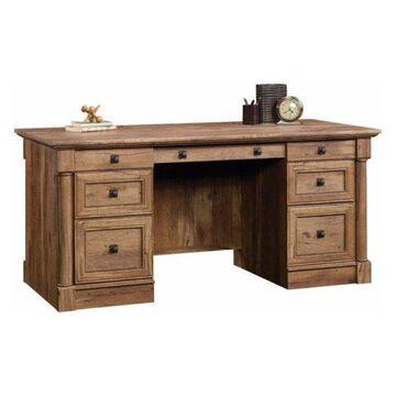 Pemberly Row Executive Desk in Vintage Oak
