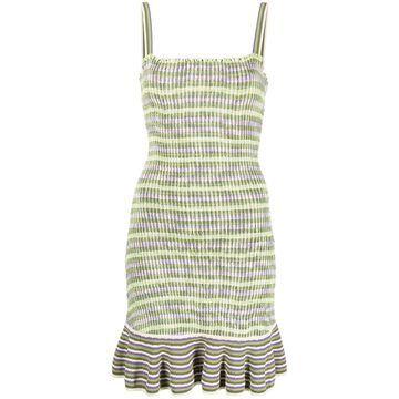 knit stripe mermaid-hem dress