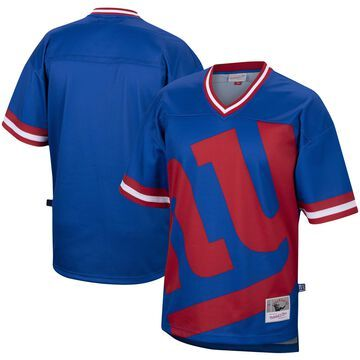 Mitchell & Ness New York Giants Royal Big Face Historic Logo V-Neck T-Shirt
