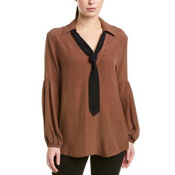 Nanette Lepore Womens Silk Blouse