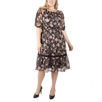 Ny Collection Women's Plus Size Peasant Dress