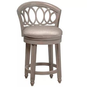 Hillsdale Furniture Adelyn Swivel Counter Stool In White/beige