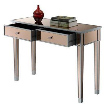 Convenience Concepts Gold Coast Mirrored Desk