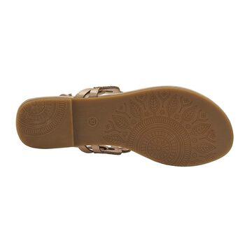Olivia Miller Ladies Ornamented T-Strap Sandal