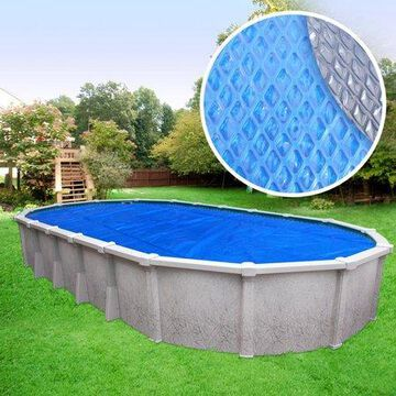 Robelle Extra Heavy-Duty Space Age Diamond Solar Cover for Above Ground Swimming Pools, Oval - 18 Feet x 33 Feet