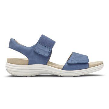 Aravon Womens Beaumont 2-Strap Sandal - Size 8 D Blue